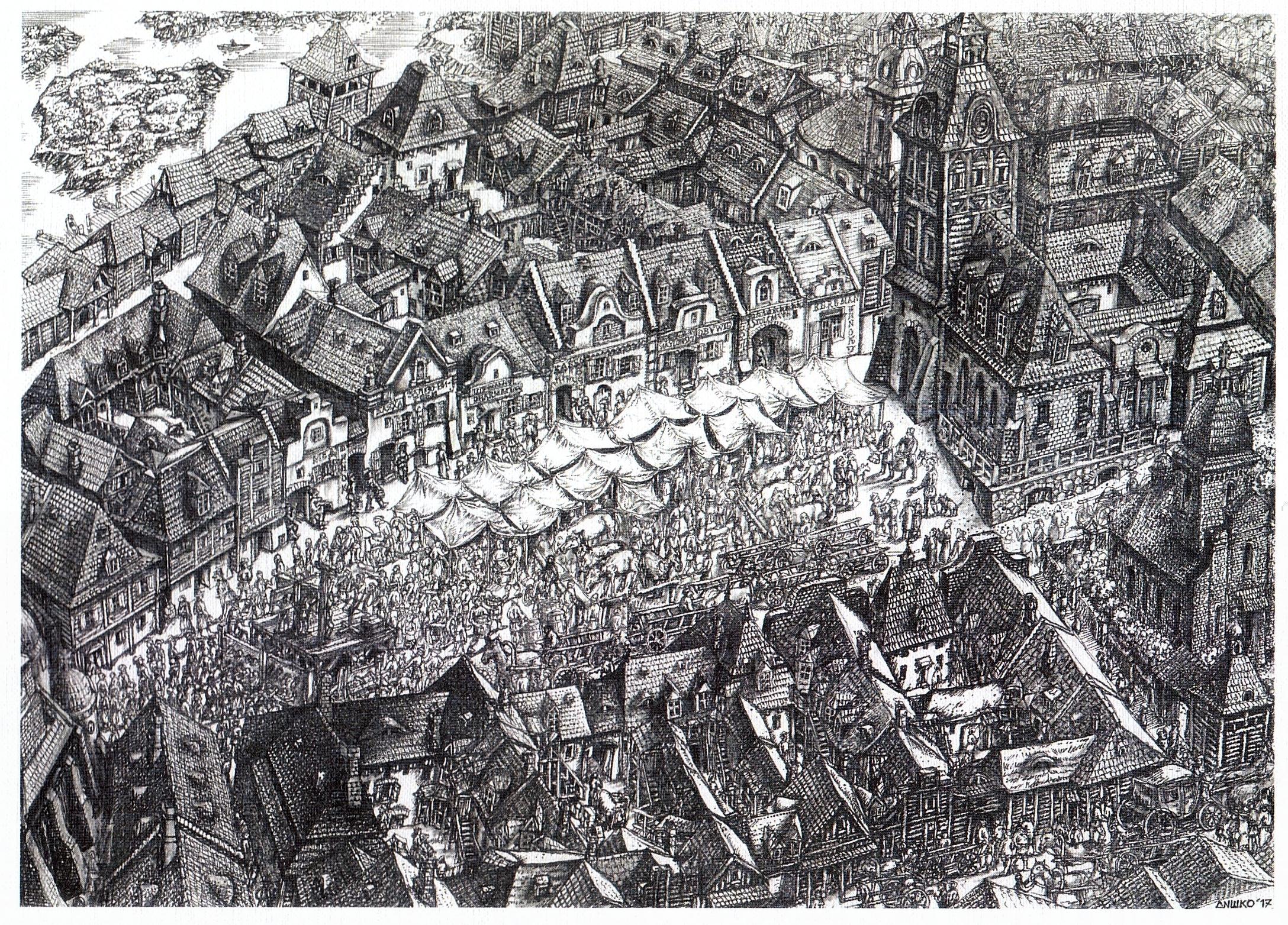 Луцька площа Ринок у баченні учасників фестивалю «Мандрівний вішак»
