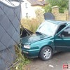 Аварія у Луцьку: авто розгромило ворота