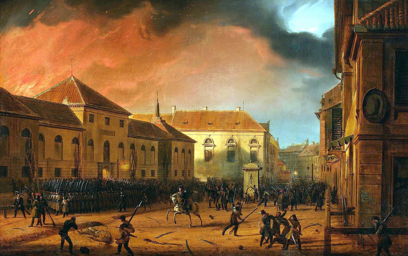 Листопадове повстання перекинулося і на українські землі