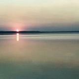 Захід сонця на Світязі у вересневу пору. Фото