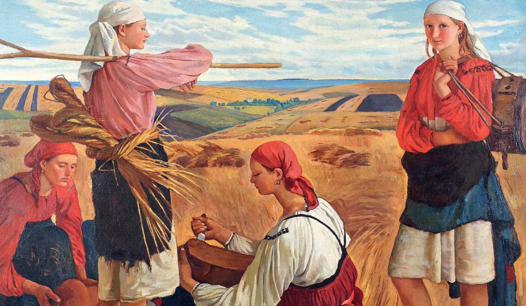 Про знамениту картину «Жнива» Зінаїди Серебрякової