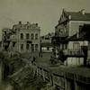 Луцькі будинки біля Братського мосту і річки Глушець 100 років тому. Фото