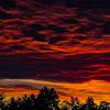 Багряний захід сонця над Ківерцями. Фото