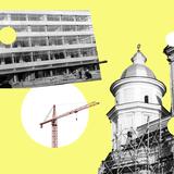Як виглядали відомі луцькі споруди під час будівництва